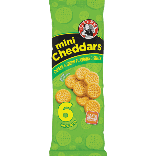 Bakers 6's Mini Cheddars Cheese & Onion
