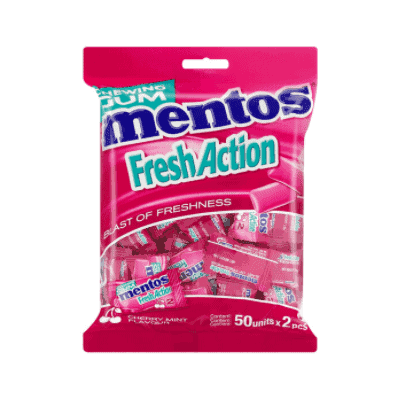 Mentos 50's Fresh Action Cherry Mint