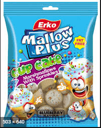 Erko 100g Cup Cake Mallows with Sprinkles