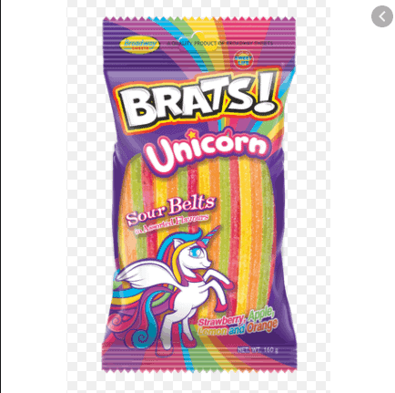 Brats 160g Unicorn Sour Belts