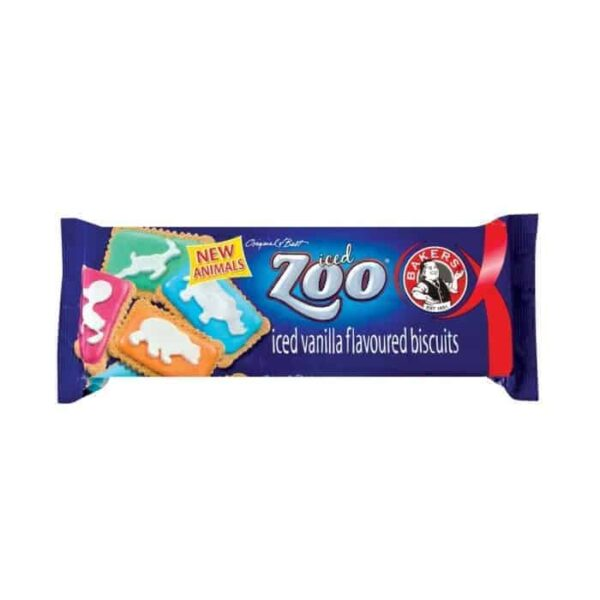 Bakers 150g Iced Zoo Biscuits