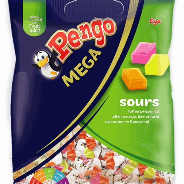 Pengo Mega 50's Orange-Lemon-Strawberry