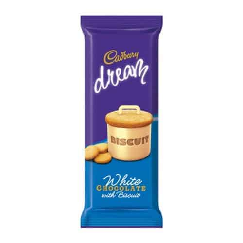 Cadbury 80g Slab Dream White Biscuit